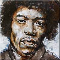 Jimi Hendrix Study #3
